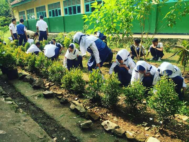 Smp Negeri 3 Kota Baru Tanam Bunga Buat Lingkungan Asri Spirit Jawa Barat